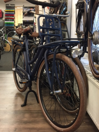 Transportfiets Style cargo mat blauw metallic 57cm