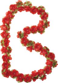 Bloemenslinger Basil Flower Garland  Rood