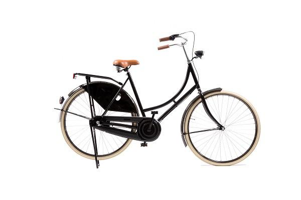 style omafiets zwart dames 57cm met 3 versnellingen