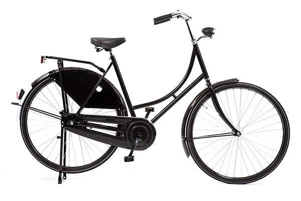 style omafiets zwart basic dames 57cm