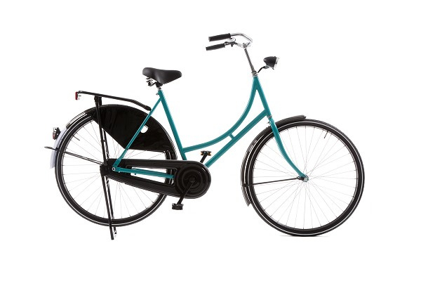 style omafiets turquoise basic dames 57cm