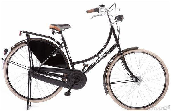 style omafiets zwart dames 50cm met 3 versnellingen handremmen