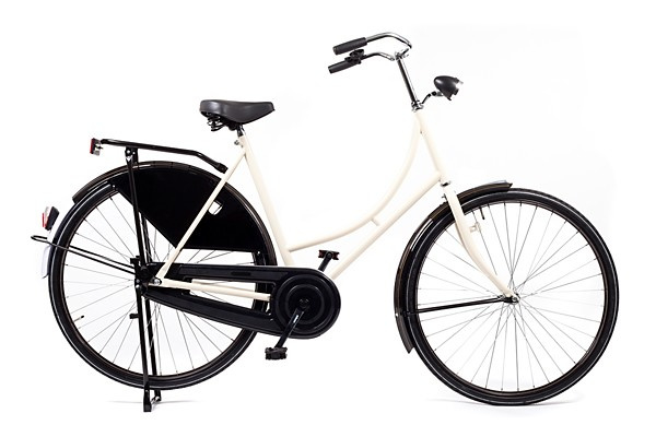 style omafiets wit basic dames 57cm
