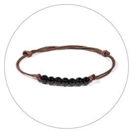 Edelsteen armband zwarte Toermalijn
