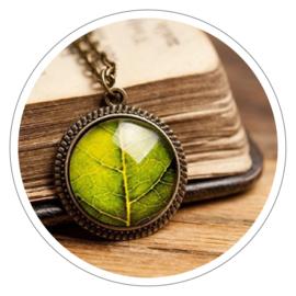 Green Leaf halsketting rond