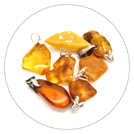 Edelsteen hanger Barnsteen - Amber