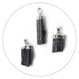 Edelsteen hanger zwarte Toermalijn ruw