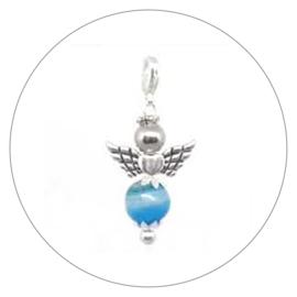 Kracht engeltje Agaat blauw. Aarding • bescherming.