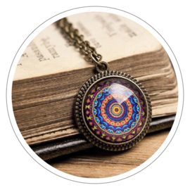 Mandala halsketting
