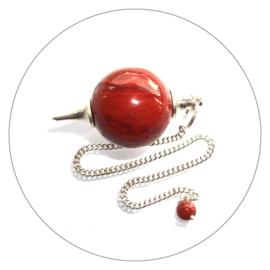 Pendel rode Jaspis bolvorm