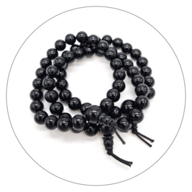 Edelsteen powerbead armband Onyx
