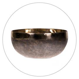 Klankschaal Ishana zwart goud kleurig (13,5 cm)