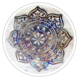 Muurdecoratie Mandala metaal (82 cm)