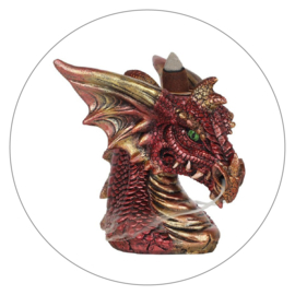 Backflow wierookbrander draak rood