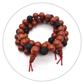 Edelsteen powerbead armband Jaspis rood man