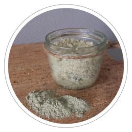 100% natuurlijke body scrub Franse groene klei