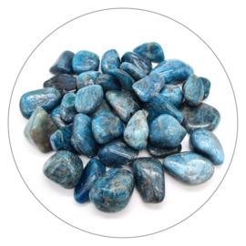Apatiet blauw trommelsteen
