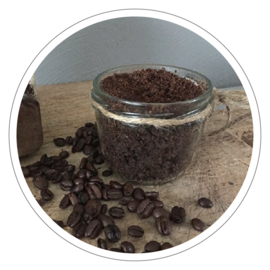 100% natuurlijke body scrub koffie