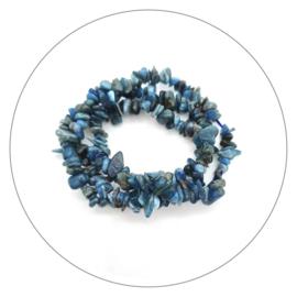 Edelsteen splitarmband Apatiet blauw