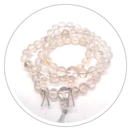 Edelsteen powerbead armband Bergkristal