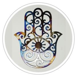 Muurdecoratie Hamsa hand metaal (50 x 60 cm)