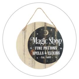 Muurdecoratie bord Magic Shop