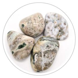 Jaspis Oceaan trommelsteen