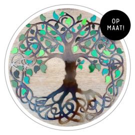 Muurdecoratie Levensboom metaal (op maat!)