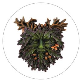 Muurdecoratie Green Man (15 x 14,5 cm)