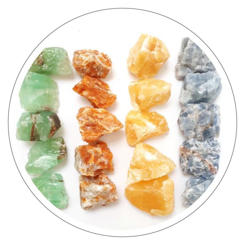 Calciet brokken (diverse kleuren)