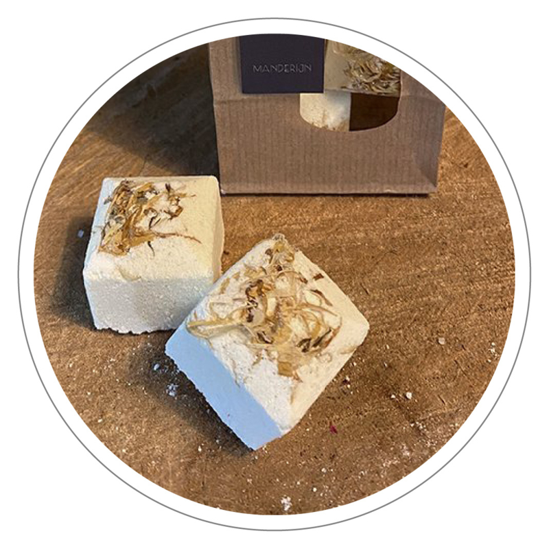 100% natuurlijke Bath Bomb (bruisbal) Mandarijn