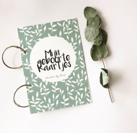 Geboortekaarten-bundel groen