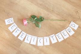 Gefeliciteerd letterslinger