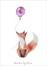 Vos met Ballon Poster