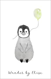 Pinguin mini kaartje