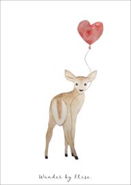 Hert met Ballon Poster