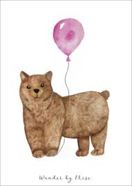 Beer Roze Ballon Poster