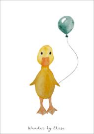 Eendje met Ballon Poster
