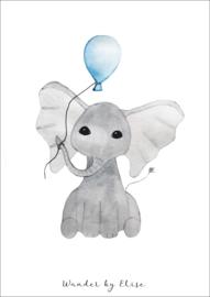Olifant met Ballon Poster