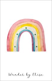 Regenboog mini kaartje