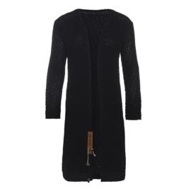 Knit Factory Luna Gebreid Vest Zwart 36/38