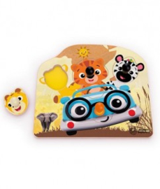 Friendly Safari Faces Houten puzzel