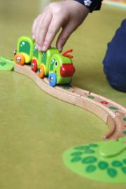 houten rupsen treinset hape
