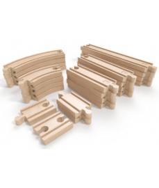 houten super uitbreidingsset treinrails Hape