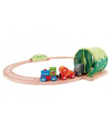 houten jungle treinset Hape