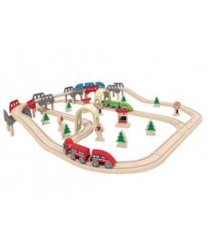 houten hoog & laag treinrails Hape