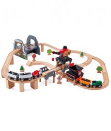 houten tillen & laden treinset Hape