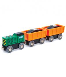 houten diesel goederentrein Hape