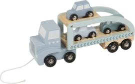Truck hout Little Dutch Blauw