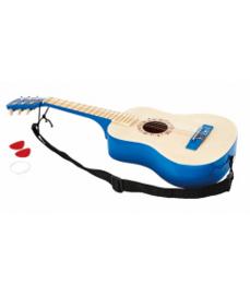 Houten gitaar Blauw Hape
